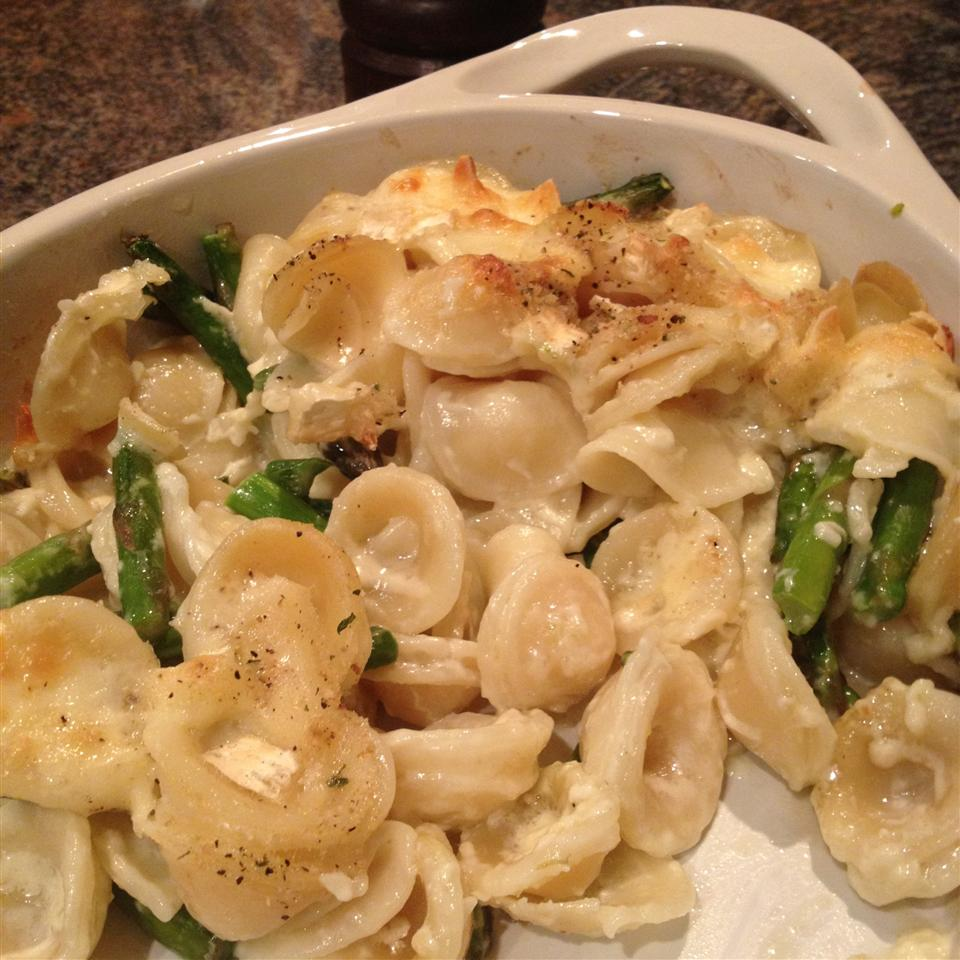 Brie and Asparagus Pasta Casserole