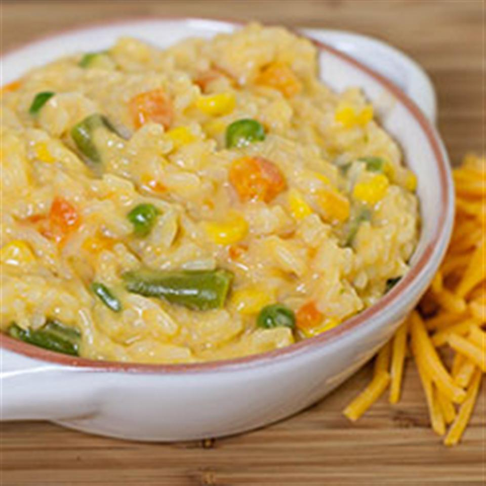 One Pot Easy Cheesy Vegetables and Rice Trusted Brands