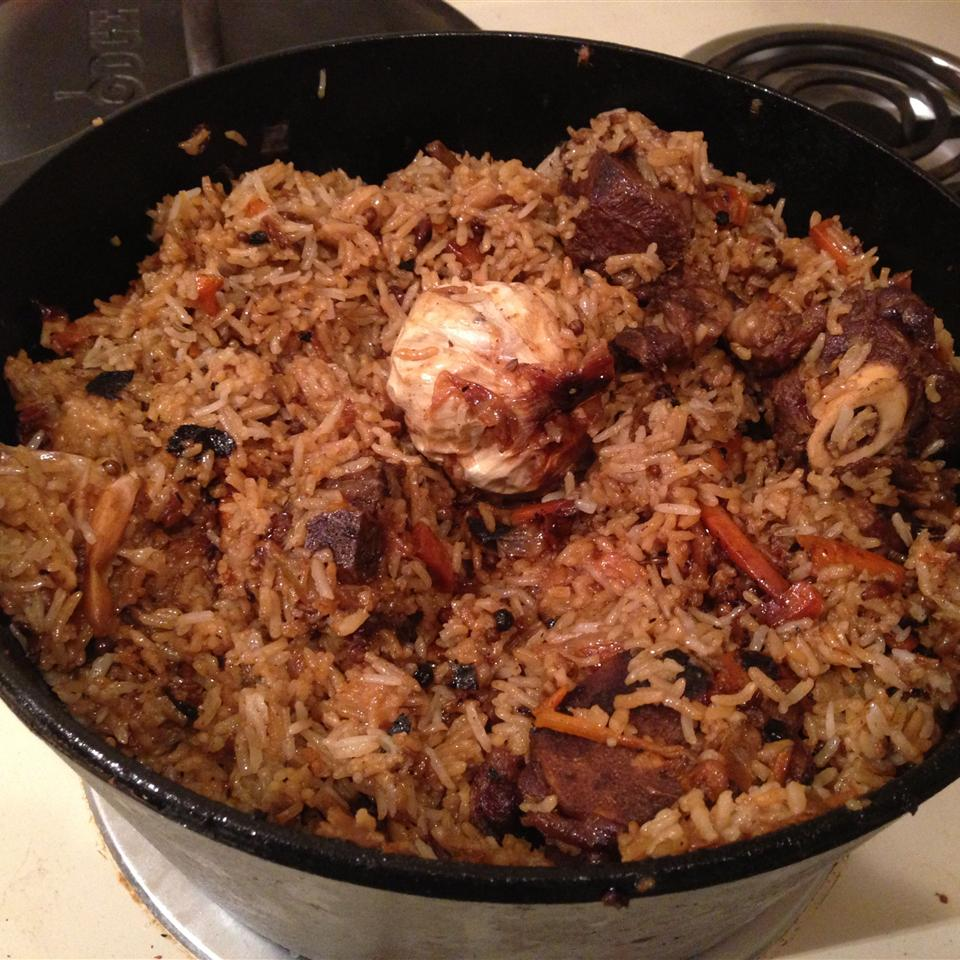 Uzbek Plov (Lamb and Rice Pilaf) Boris Oks