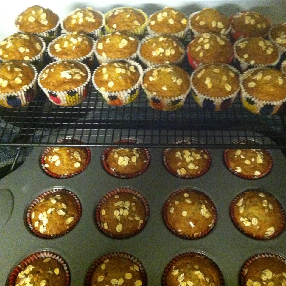 Banana Oat Muffins with Sour Cream Stinalynn