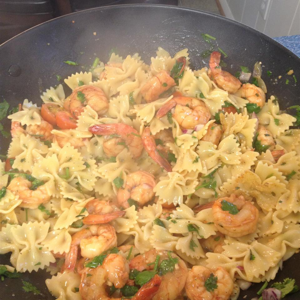 Lime-Shrimp Avocado Pasta Salad Tiff B