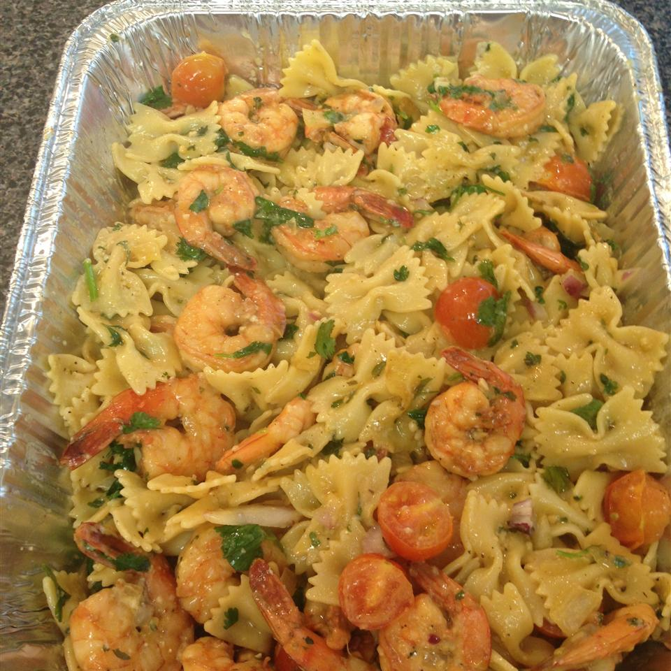Lime-Shrimp Avocado Pasta Salad