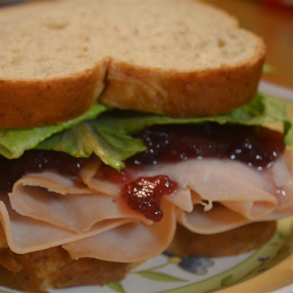 Cranberry Thanksgiving Turkey Sandwich