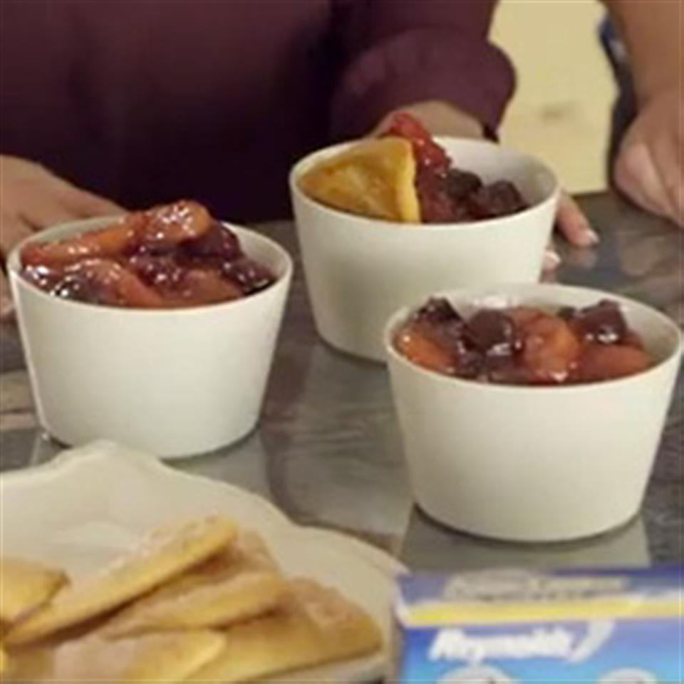 Ashley and Whitney's Apple-Cherry Cobbler Trusted Brands