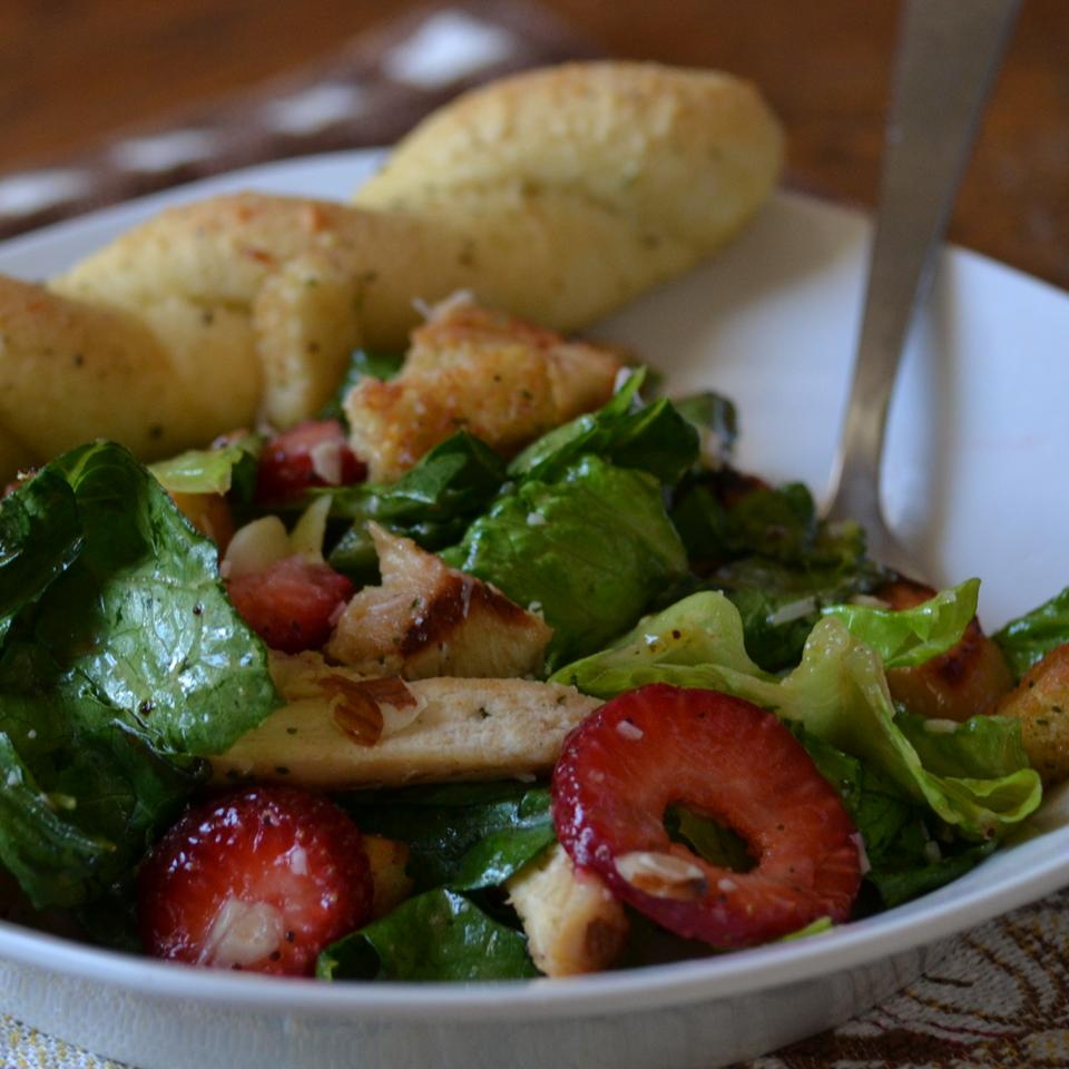 """""""This recipe uses three kinds of fresh berries and your choice of mixed salad greens, all tossed together with grilled chicken and a special honey mustard dressing,"""" says KATIE MINES. """"This is my favorite summer salad."""""""