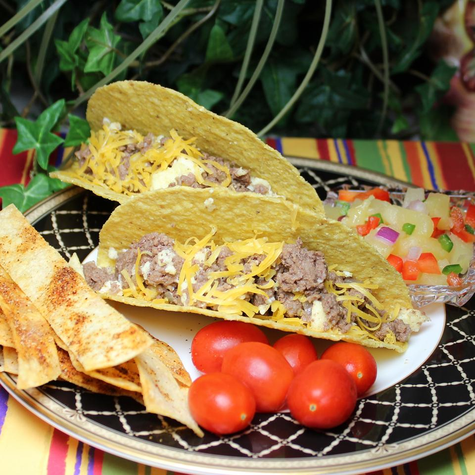 Ground Bison Breakfast Tacos with Pineapple Salsa Paula