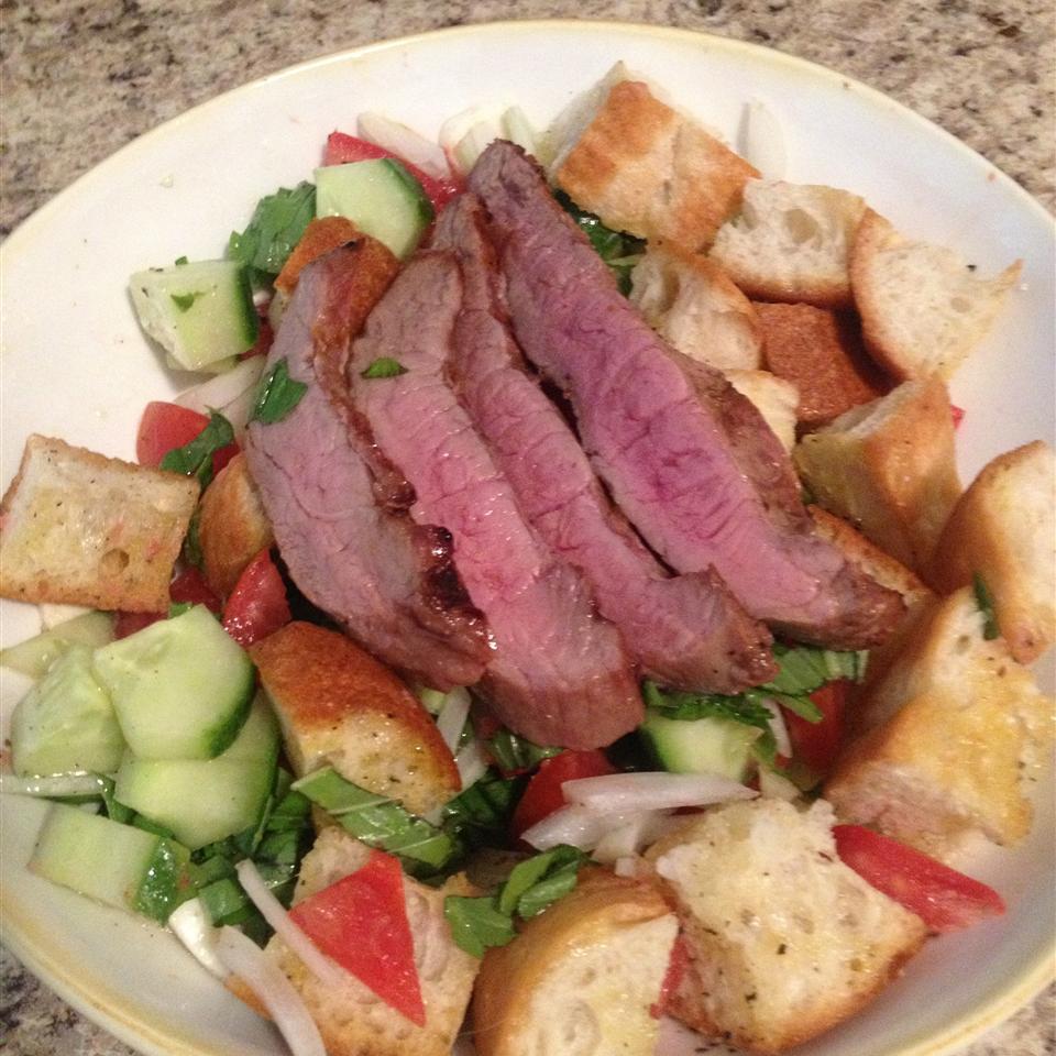 Panzanella Salad with Bison Flank Steak Mclifford973
