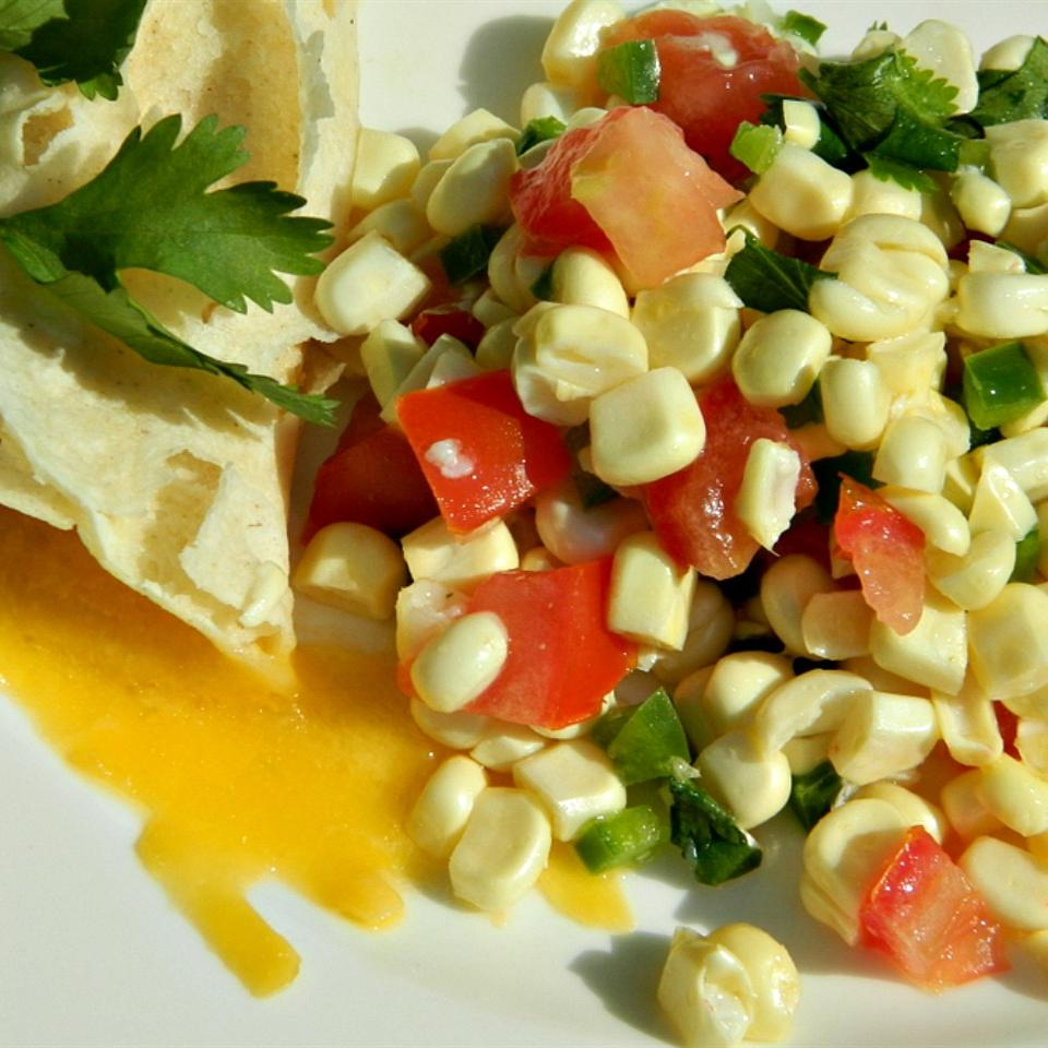 Fresh Corn Salsa with Orange and Lime