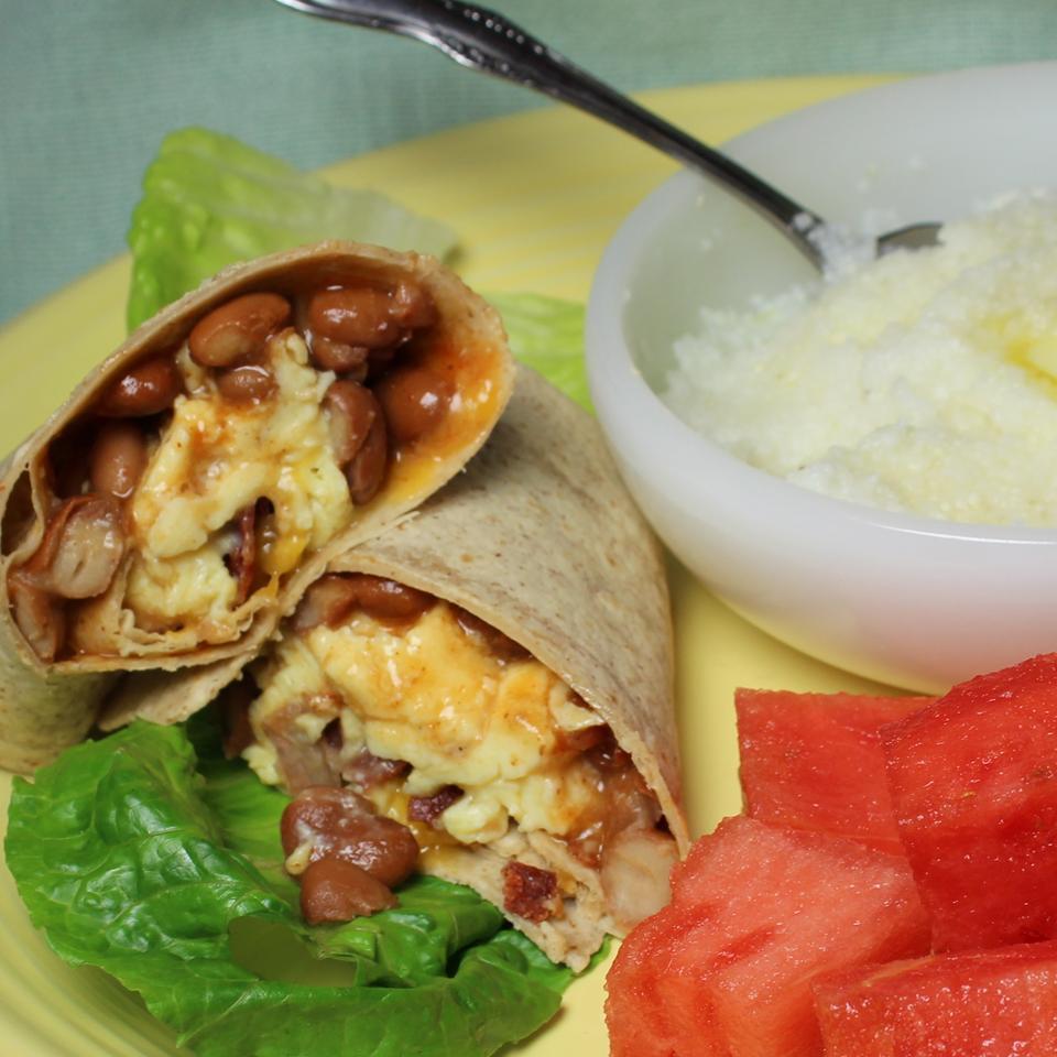 Turkey Bacon Breakfast Burrito Paula