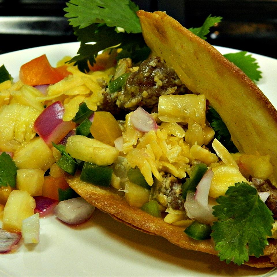 Ground Bison Breakfast Tacos with Pineapple Salsa Marianne