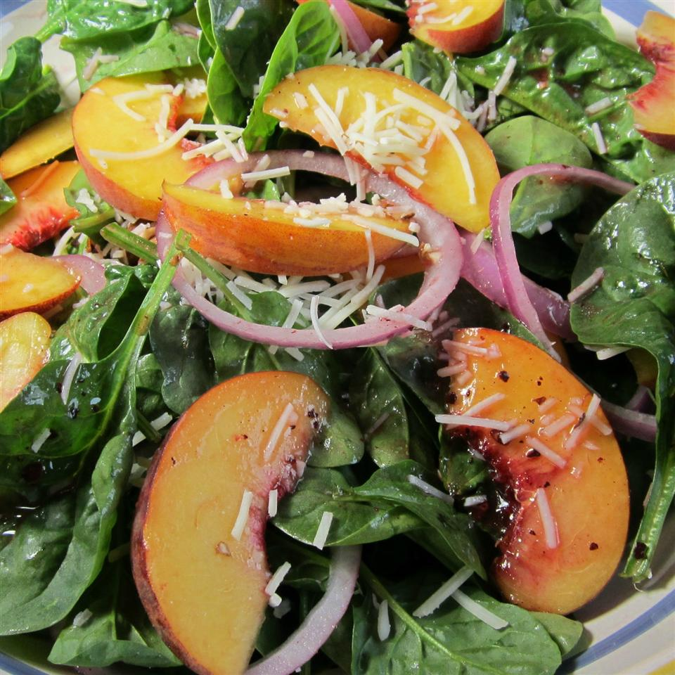 Peach Salad with Raspberry Vinaigrette Deb C