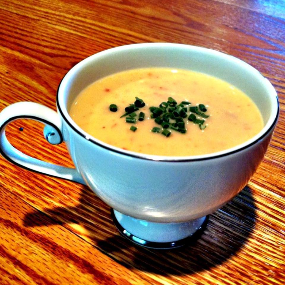 Cream of Green Garlic and Potato Soup lovestohost