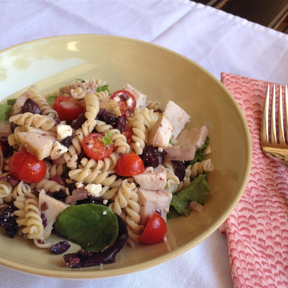 Mediterranean Turkey Pasta Salad Staci