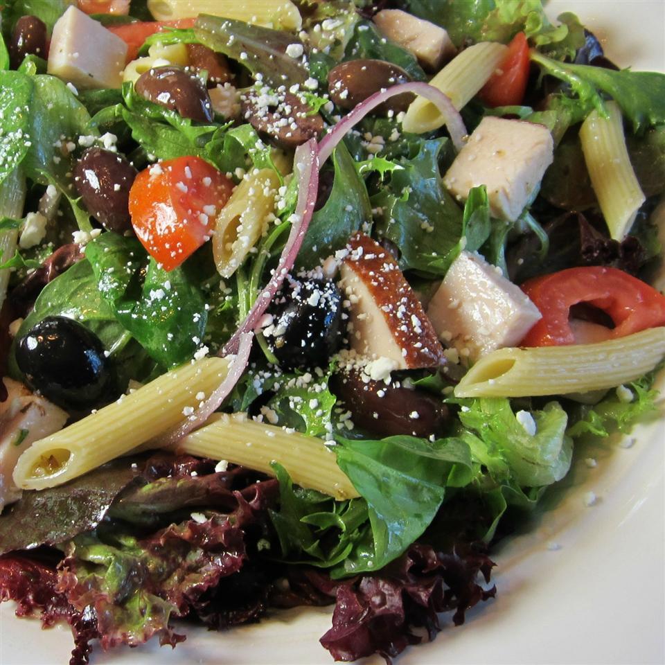 Mediterranean Turkey Pasta Salad Deb C