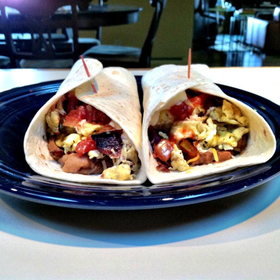 Turkey Bacon Breakfast Burrito lovestohost