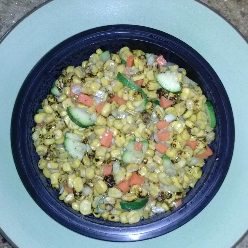 Colorful Roasted Corn Salad