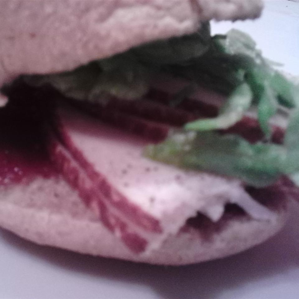 Cranberry Thanksgiving Turkey Sandwich Linda