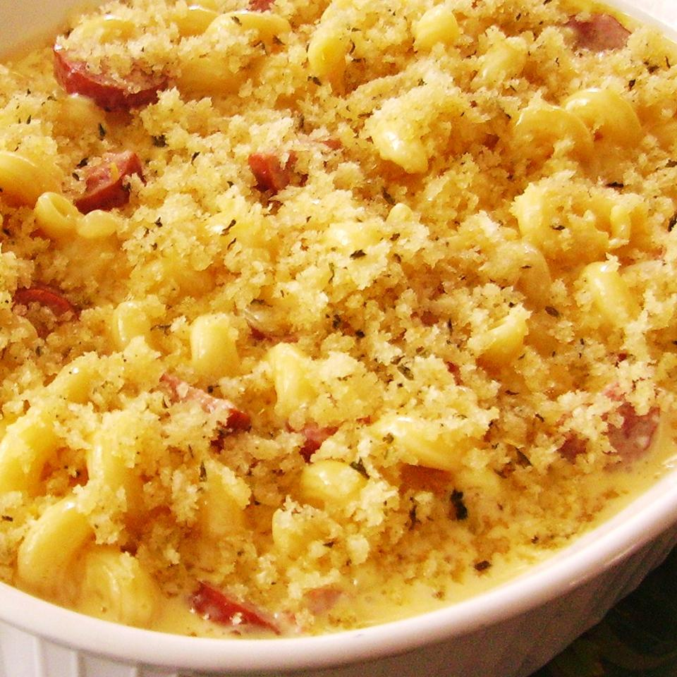 Classic Smoked Sausage Mac and Cheese Christina