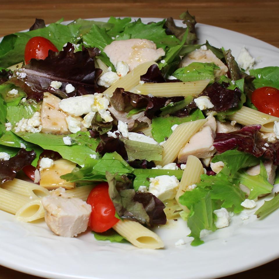 Mediterranean Turkey Pasta Salad