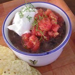 Black Beans with Pico de Gallo gapch1026