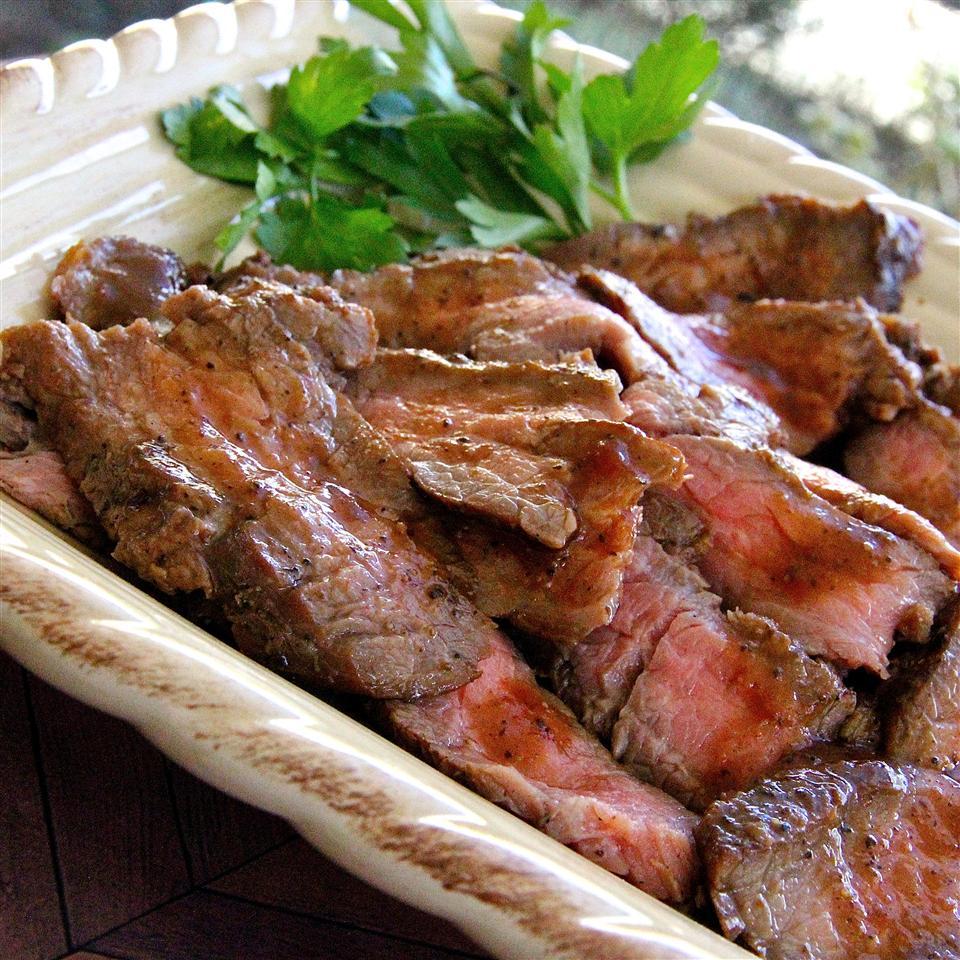 Beerbecue Beef Flank Steak lutzflcat