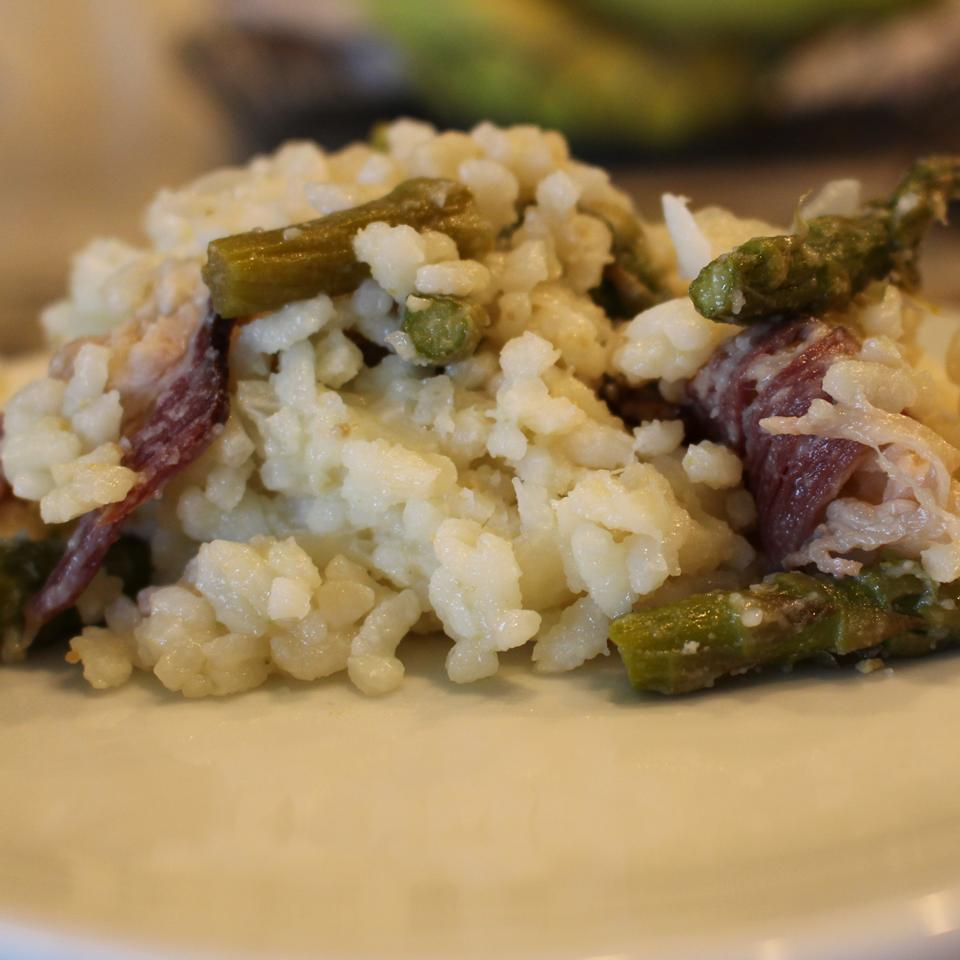 Risotto with Asparagus and Bison Bacon MrsFisher0729