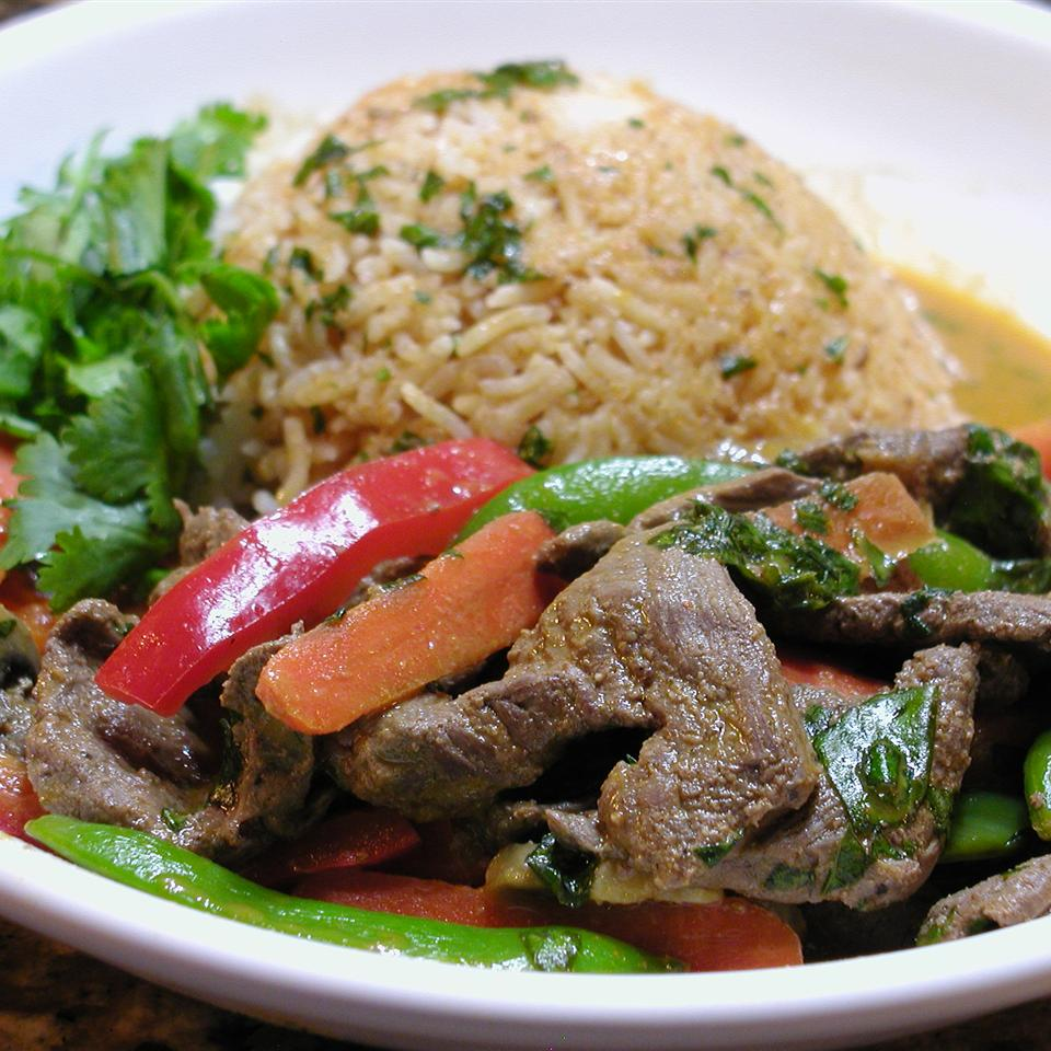 Bison Red Curry Cathy Myers