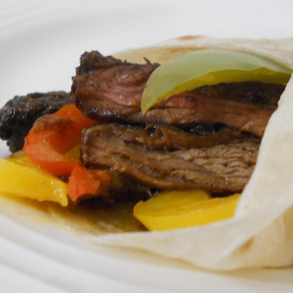 Bison Fajitas with Guacamole Salad Rae
