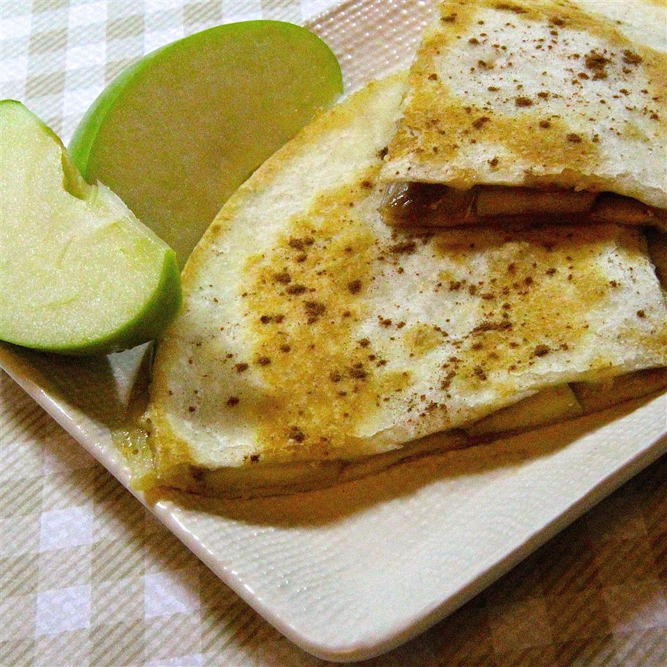 Apple Cinnamon Brie Quesadillas