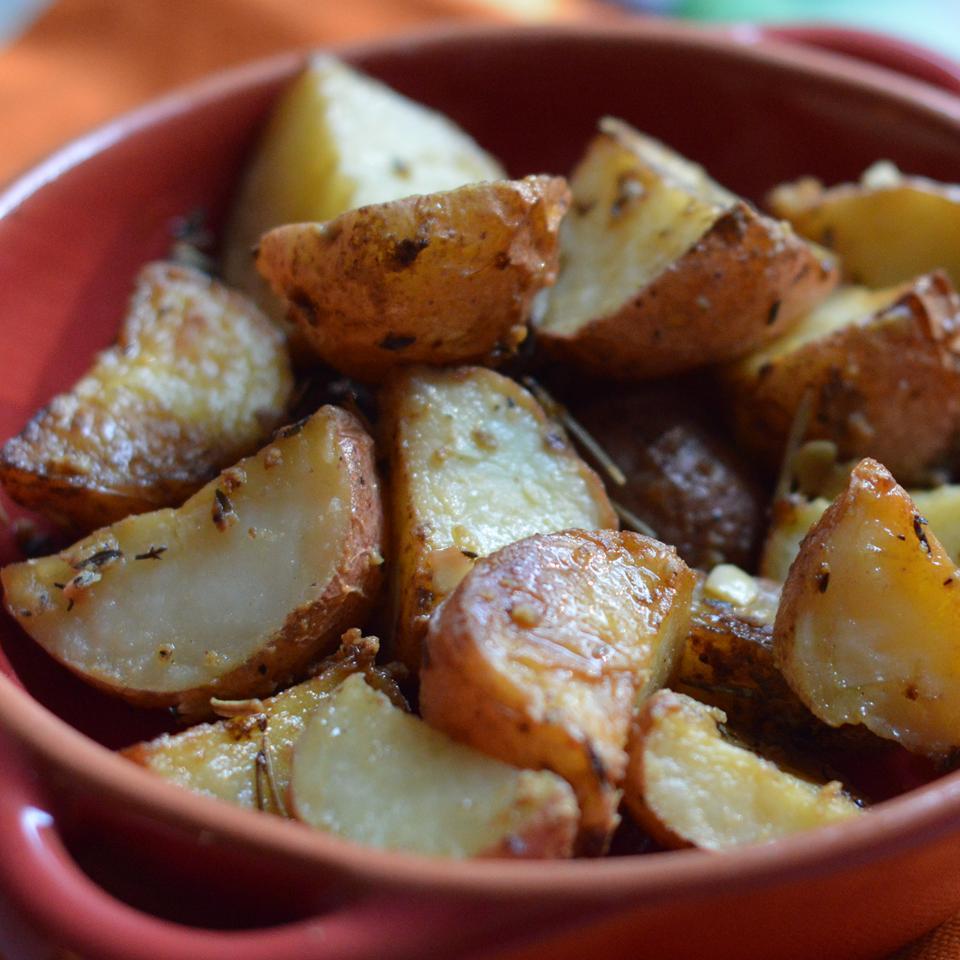 Dijon Roasted Potatoes Holiday Baker