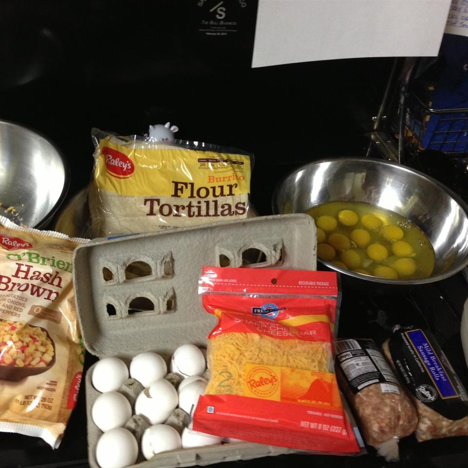 Make-Ahead Breakfast Sausage Burritos