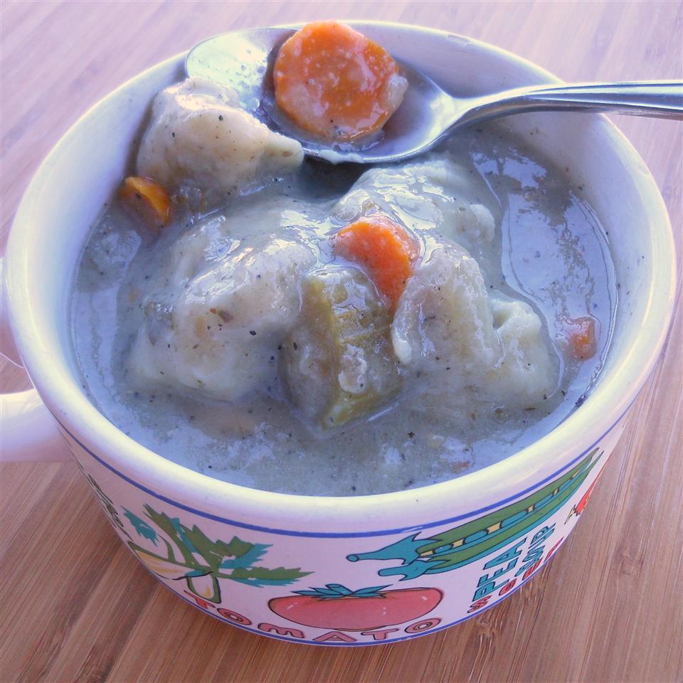 Leftover Turkey Soup with Rosemary Parmesan Dumplings SunnyDaysNora