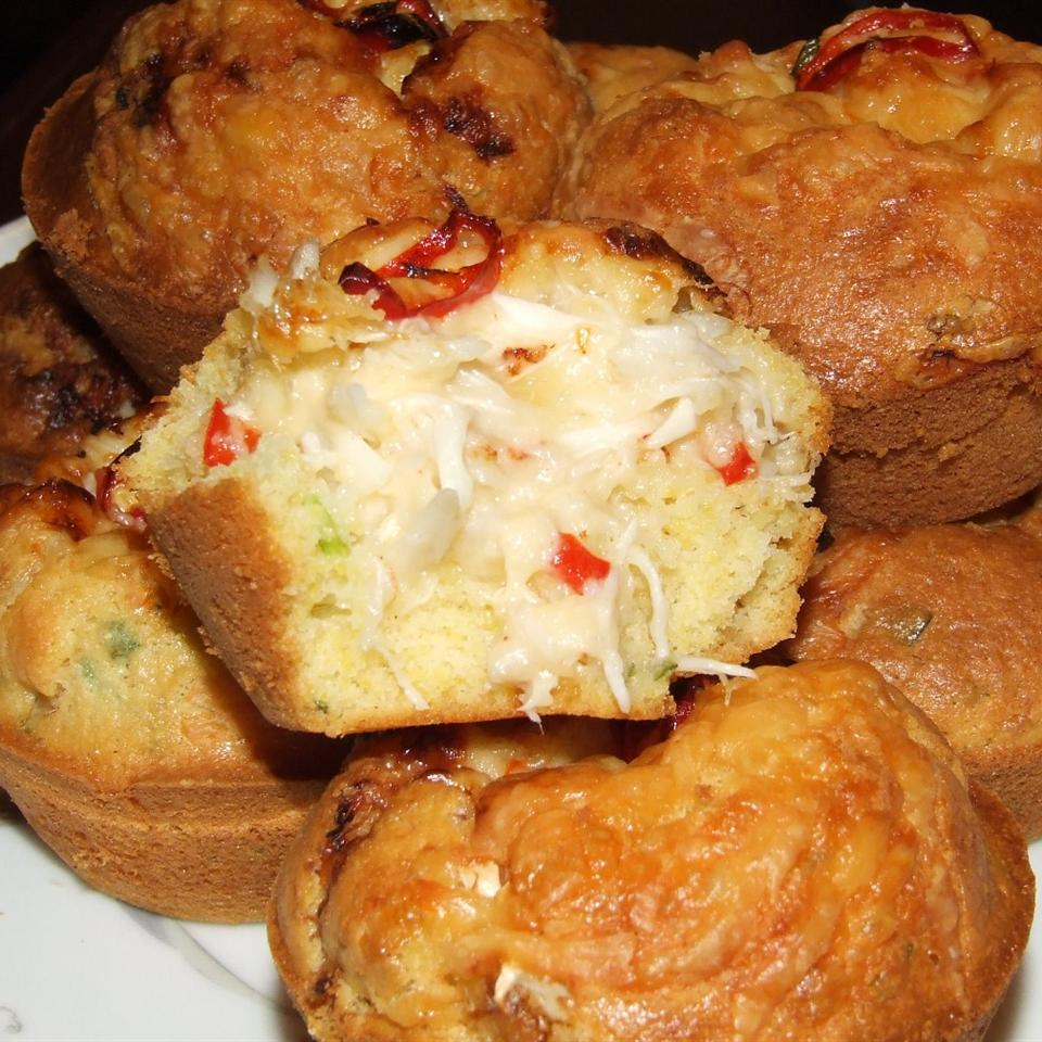 Crab-Stuffed Corn Muffins