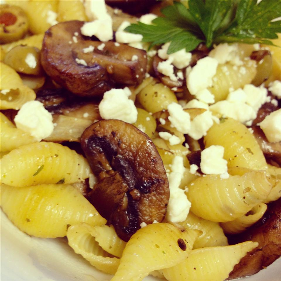 Recipe contributor MISSSMEW2 loves the flavor combination of tangy feta cheese and salty olives, prompting her to create this Greek-inspired vegetarian dish with wholegrain pasta. Judging by the reviews — it looks like lots of people agree with her!