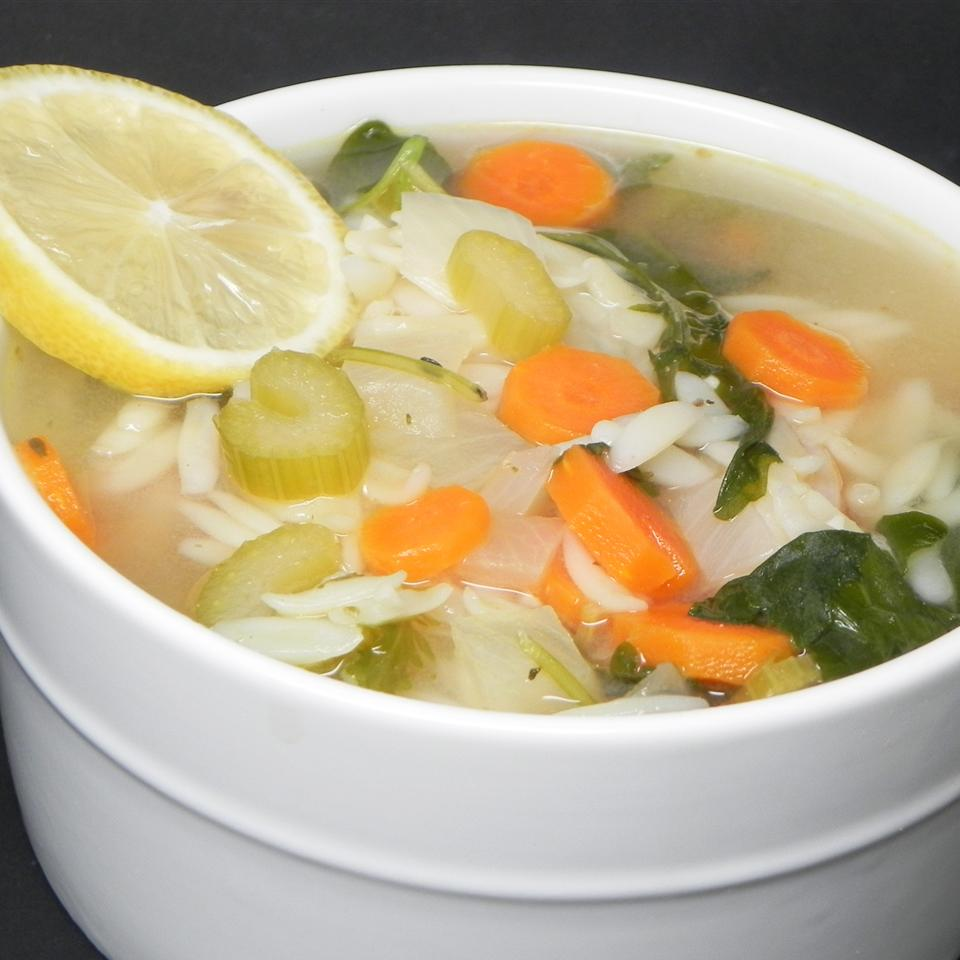 Lemon Chicken Orzo Soup ReneePaj