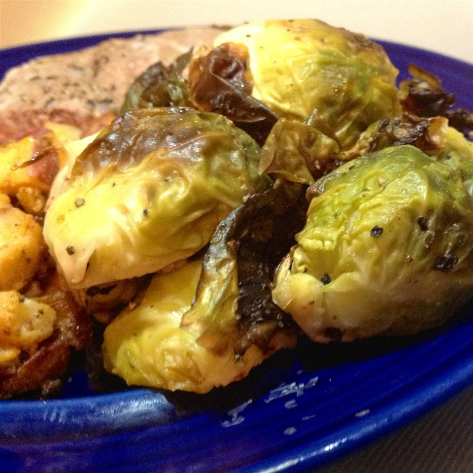 Duck Fat-Roasted Brussels Sprouts
