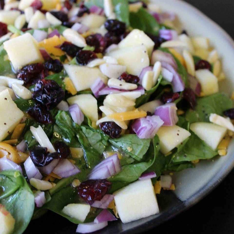 Super Seven Spinach Salad mommyluvs2cook