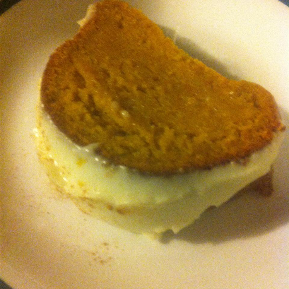 Holiday Pumpkin Cake with Rum-Cream Cheese Glaze