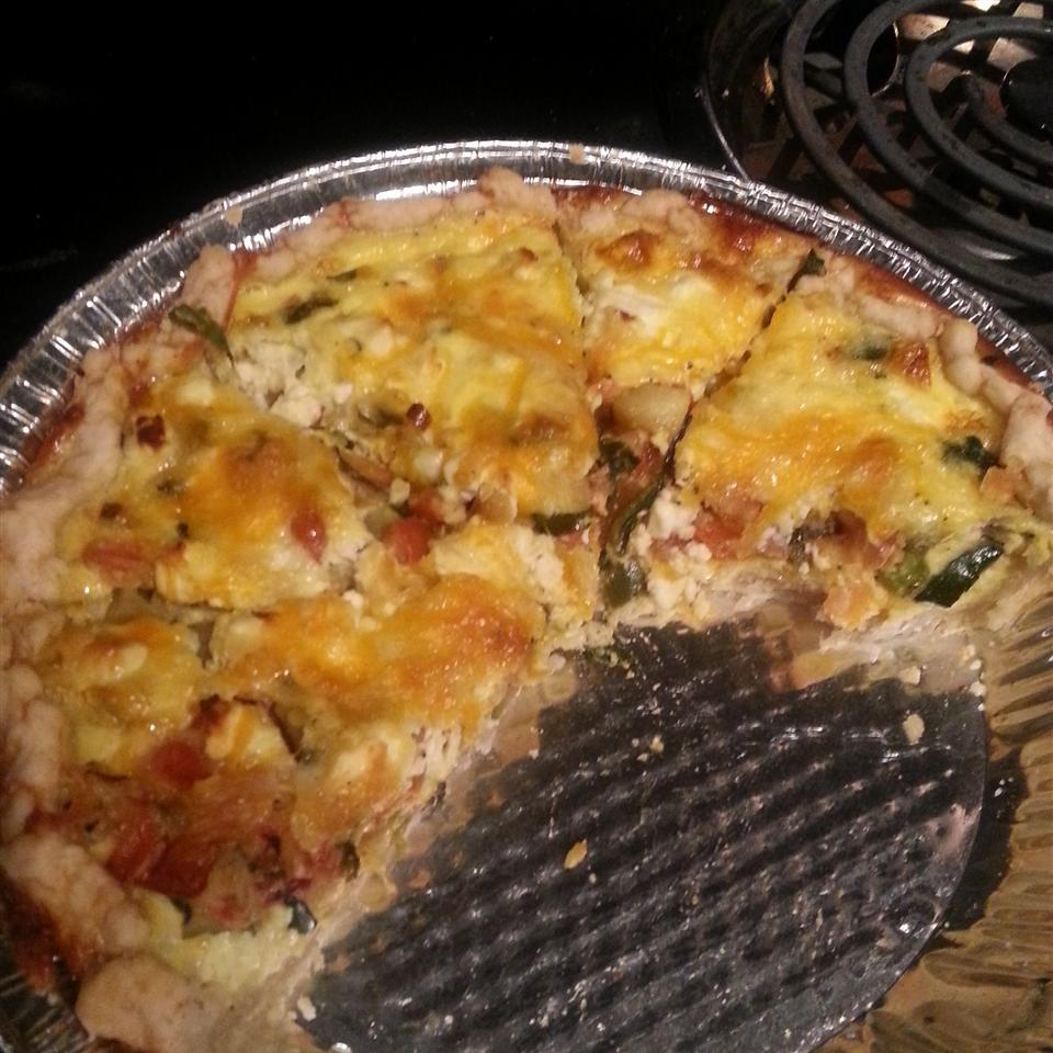 Loaded Vegetarian Quiche cannabaked