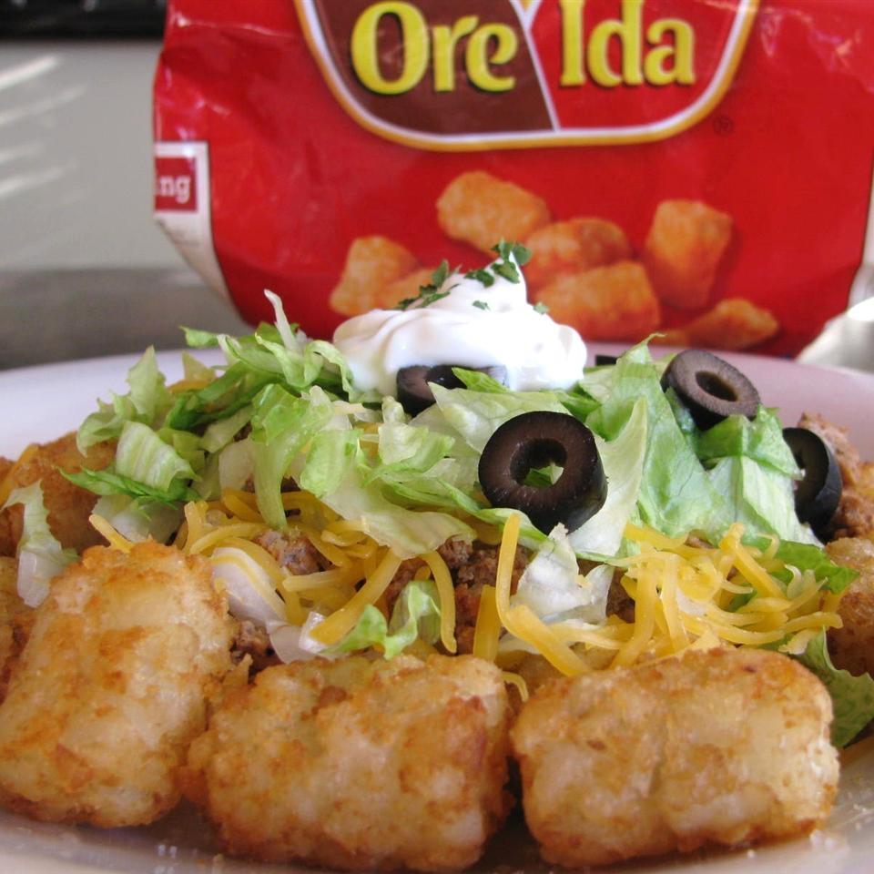 Tater Tot Taco Salad