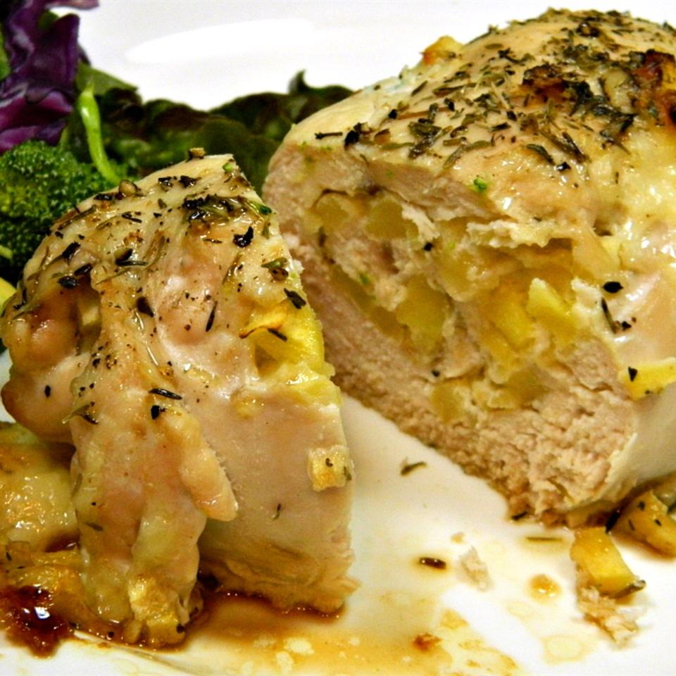 Apple and Cheddar Stuffed Chicken