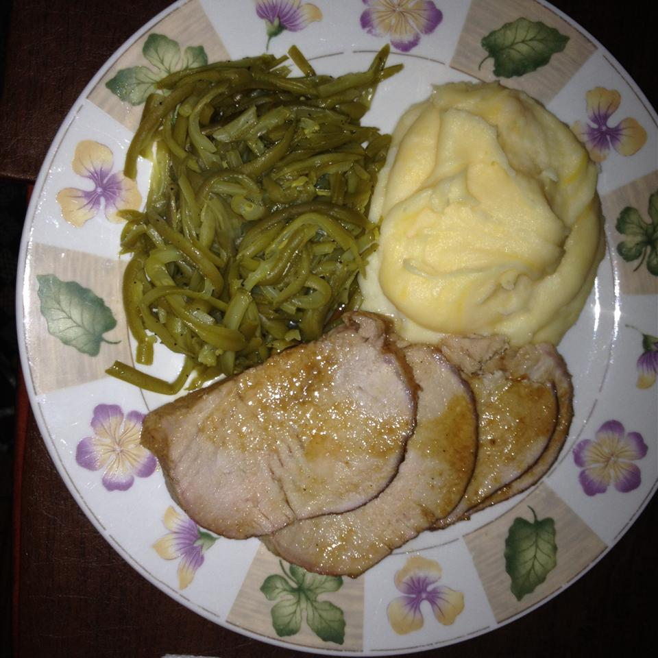 Roast Pork with Maple and Mustard Glaze