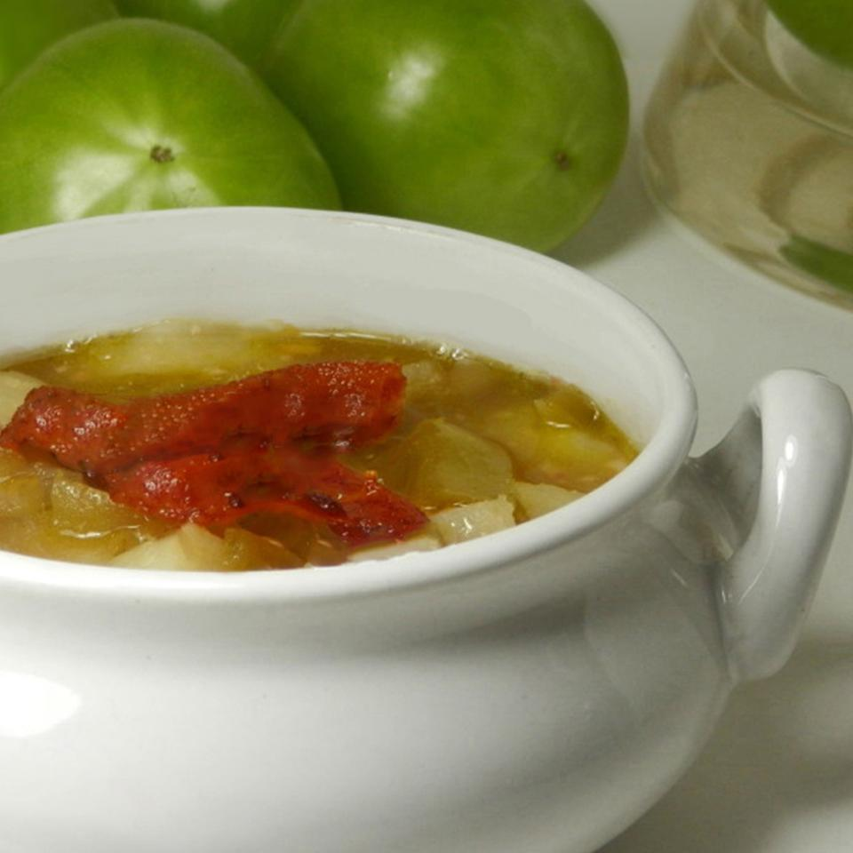 Green Tomato and Bacon Soup