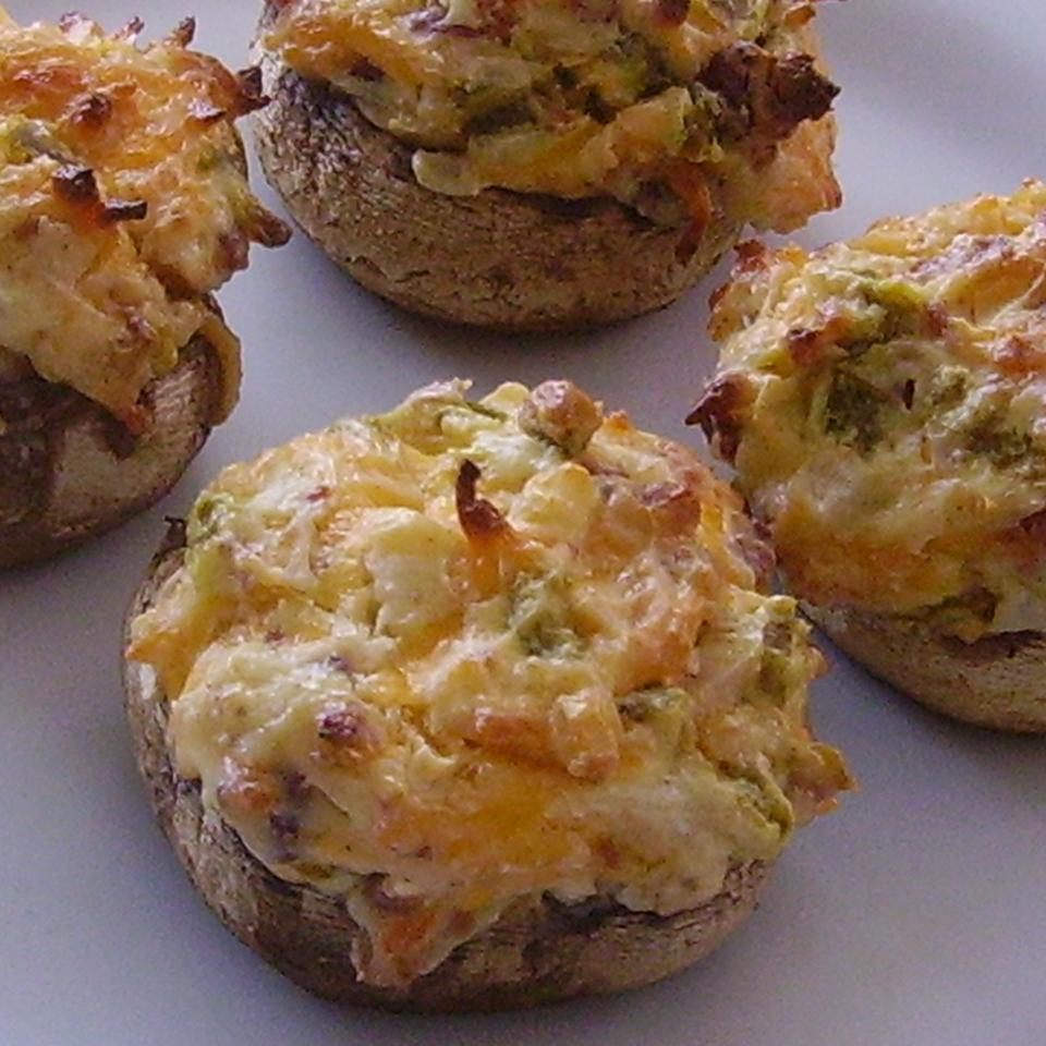 Hot and Spicy Stuffed Mushrooms
