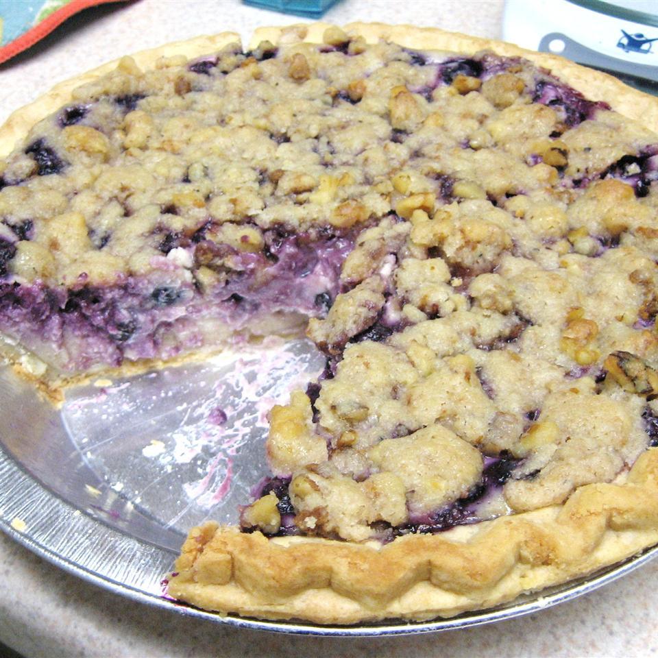 True Blue Custard Crunch Pie