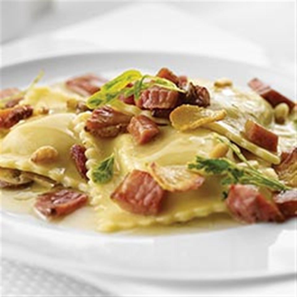 Pumpkin Ravioli with Crispy Margherita® Prosciutto Trusted Brands