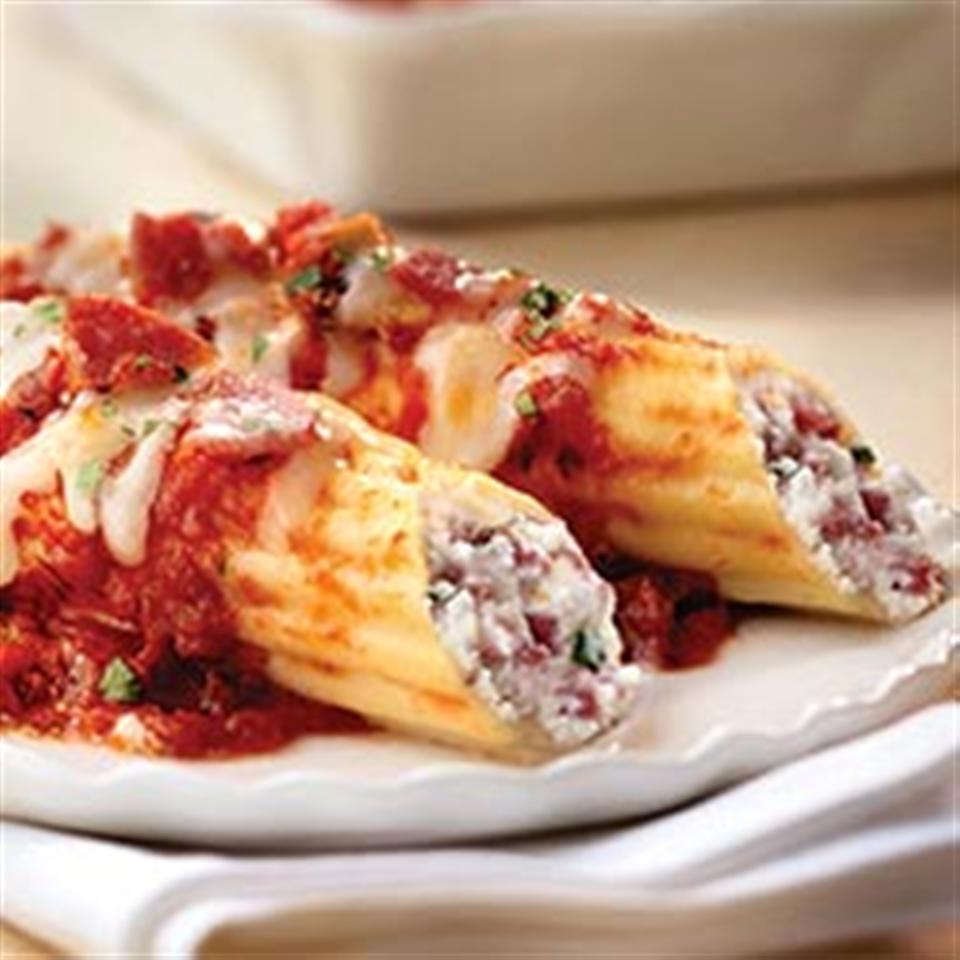 Ricotta and Margherita® Salami Manicotti