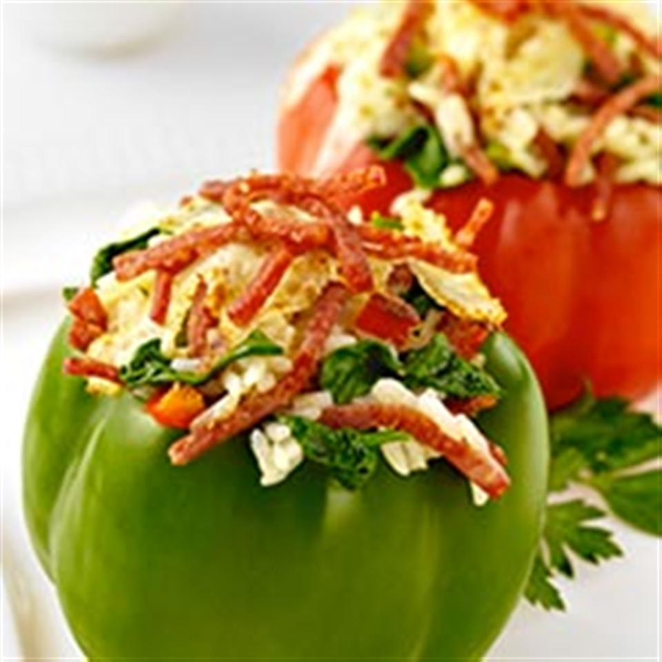 Margherita® Pepperoni Spinach and Rice Stuffed Peppers Trusted Brands