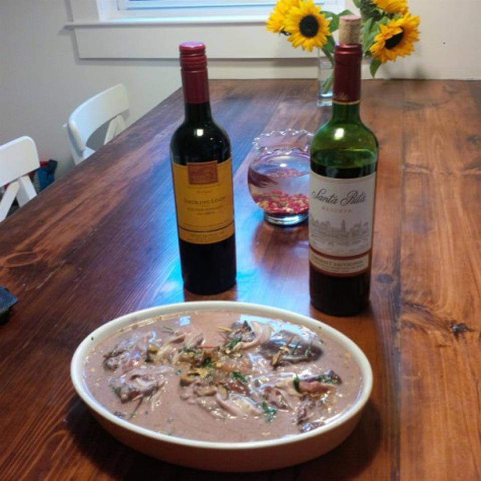 Pancetta Partridge in Wine Sauce