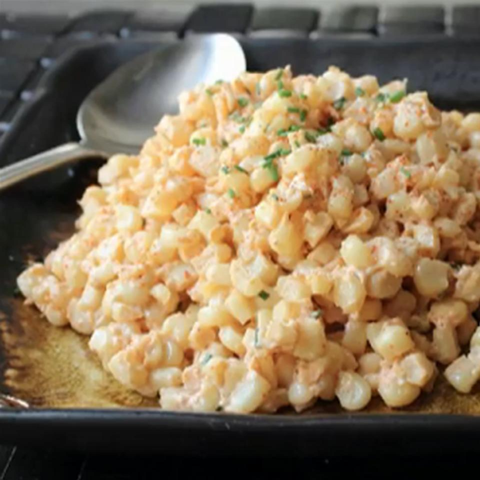 Quick Creamed Curried Corn